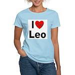 I Love Leo (Front) Women's Light T-Shirt