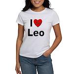 I Love Leo (Front) Women's T-Shirt