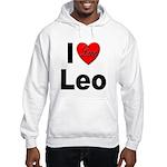 I Love Leo (Front) Hooded Sweatshirt