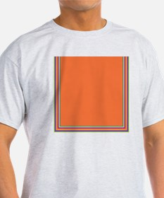 Stripes on dark orange T-Shirt