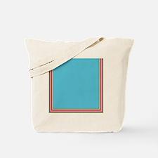 Stripes on aqua Tote Bag