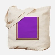 Stripes on purple Tote Bag