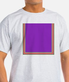 Stripes on purple T-Shirt