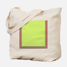 Stripes on bright green Tote Bag
