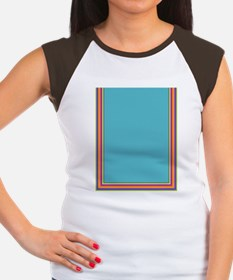 Stripes on aqua Women's Cap Sleeve T-Shirt