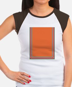 Stripes on dark orange Women's Cap Sleeve T-Shirt