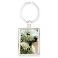 Bedlington Jewel Portrait Keychain