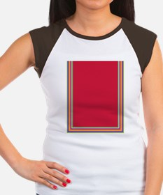 Stripes on red Women's Cap Sleeve T-Shirt