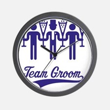 Team Groom (Bachelor Party / Stag Night Wall Clock
