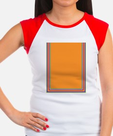 Stripes on light orange Women's Cap Sleeve T-Shirt