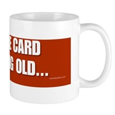 The race card is getting old... Mug