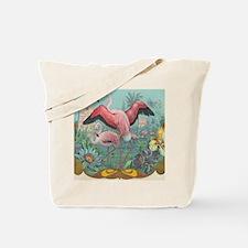 Vintage Flamingo Tote Bag