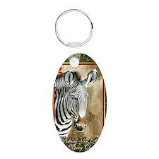 Zebra Christmas Card Keychains