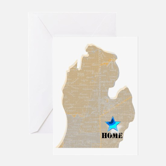 Michigan Is Home Greeting Card