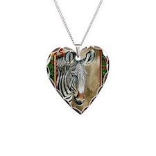 Zebra Christmas Card Necklace