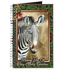 Zebra Christmas Card Journal