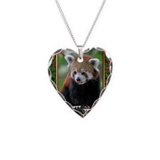Red Panda Christmas Card Necklace
