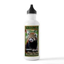 Red Panda Christmas Ca Water Bottle