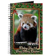 Red Panda Christmas Card Journal