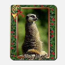 Meerkat Christmas Card Mousepad