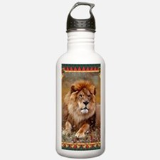 African Lion Christmas Water Bottle