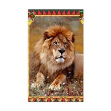African Lion Christmas Card Decal