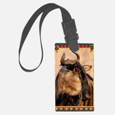 Wildebeest Christmas Card Luggage Tag