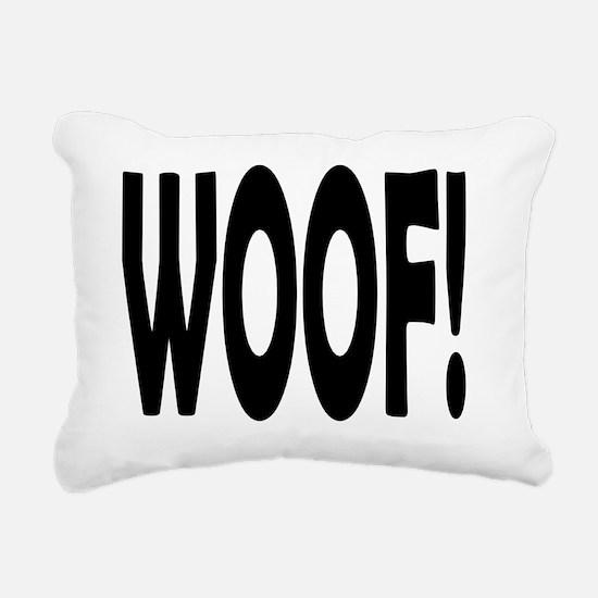 WOOF! Rectangular Canvas Pillow
