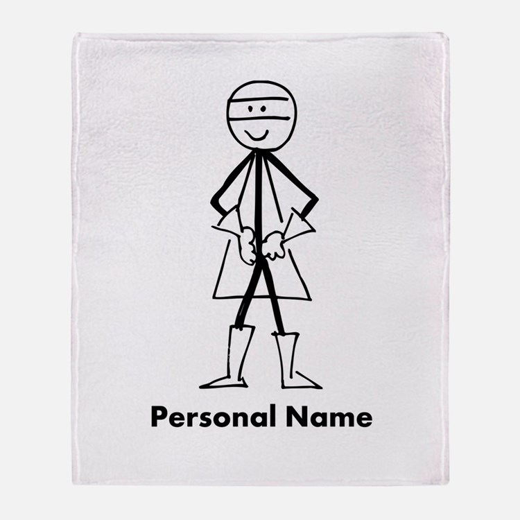 Personalized Super Stickman Throw Blanket