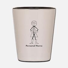 Personalized Super Stickman Shot Glass