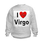 I Love Virgo (Front) Kids Sweatshirt