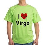 I Love Virgo Green T-Shirt