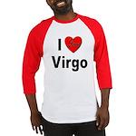I Love Virgo Baseball Jersey