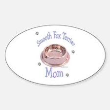 Smooth Fox Mom Oval Decal