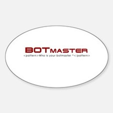 Bot Master Oval Decal