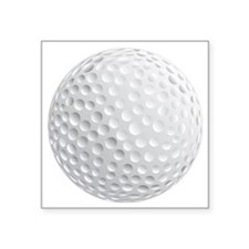 "golf ball Square Sticker 3"" x 3"""