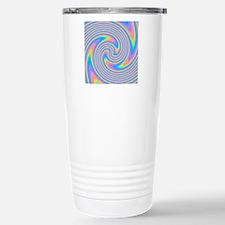 Colorful Swirl Design. Stainless Steel Travel Mug