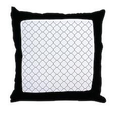 Gray White Quatrefoil Pattern Throw Pillow