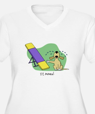 See-Saw Agility Dog Plus Size T-Shirt