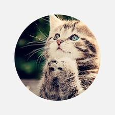 """Cat Praying 3.5"""" Button"""