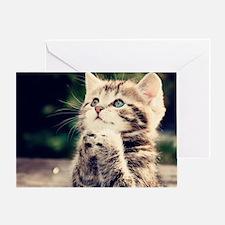 Cat Praying Greeting Card