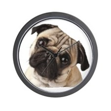 Pug Oil Painting Face Wall Clock