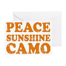 Peace Sunshine Camo Greeting Card