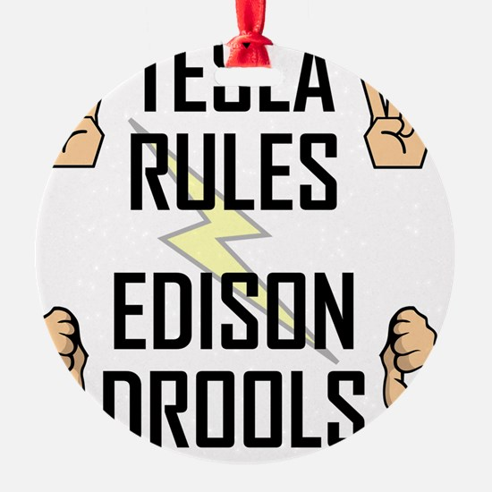 Tesla Rules Ornament