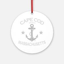 Cape Cod Beach Round Ornament