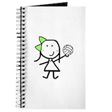 Girl & Volleyball Journal