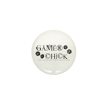 Gamer Chick Mini Button