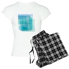 Water: Aqua Blue Abstract pajamas