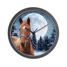 Winter Arabian Wall Clock