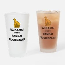 Keep Calm  Carry On (Shona Version  Drinking Glass